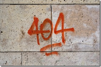 404 on wall-320
