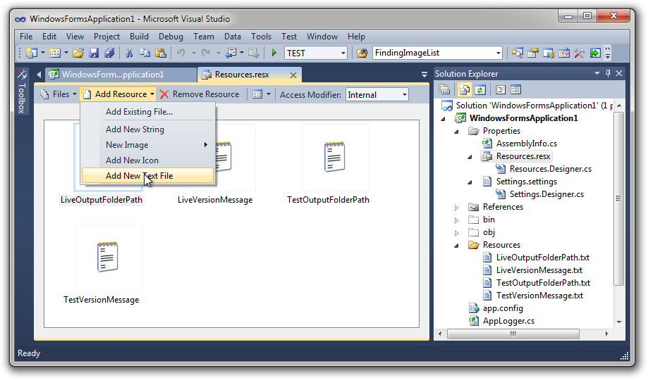 Visual Studio: Use Conditional Compilation to Control