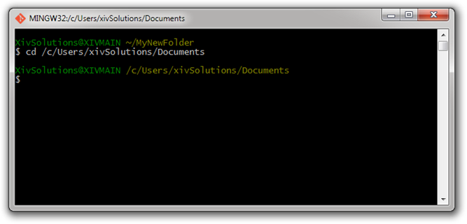 Bash-Change-Directory-To-Documents
