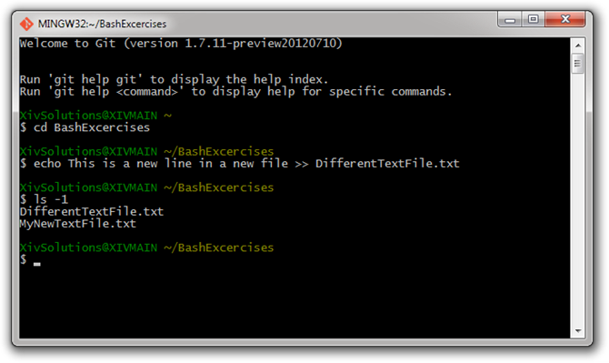 Bash-Create-New-Text-File-With-Echo-Command