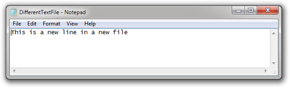 DifferentTextFile - Notepad