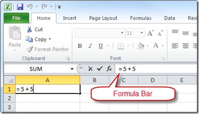 Formula Bar and Formula