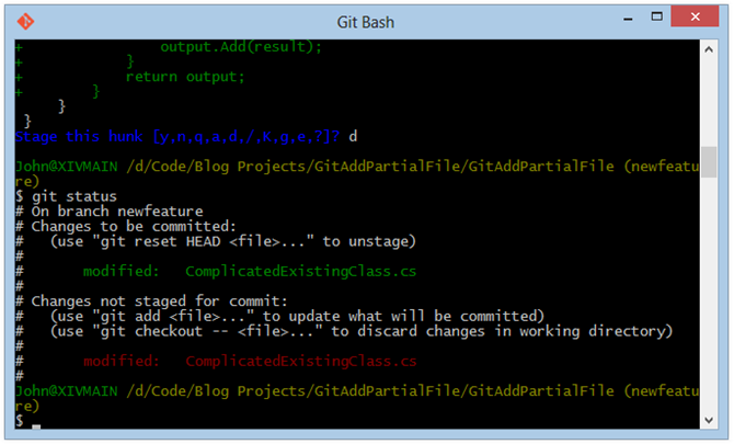 Git Bash-git-status-after-stage-bugfix