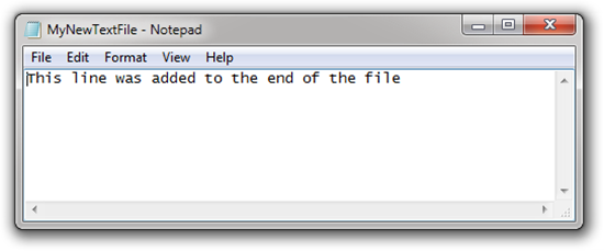 Open-Text-File-After-Append-Line