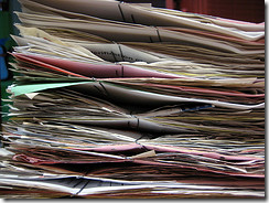 Paperwork: photo by luxomedia