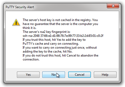 PuTTY-Security-Alert-Cahce-Server-Ad