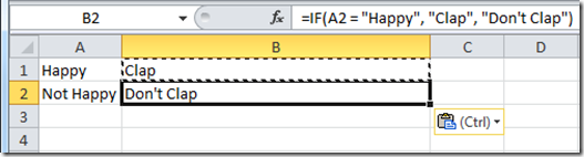 Silly Happy Function After Paste