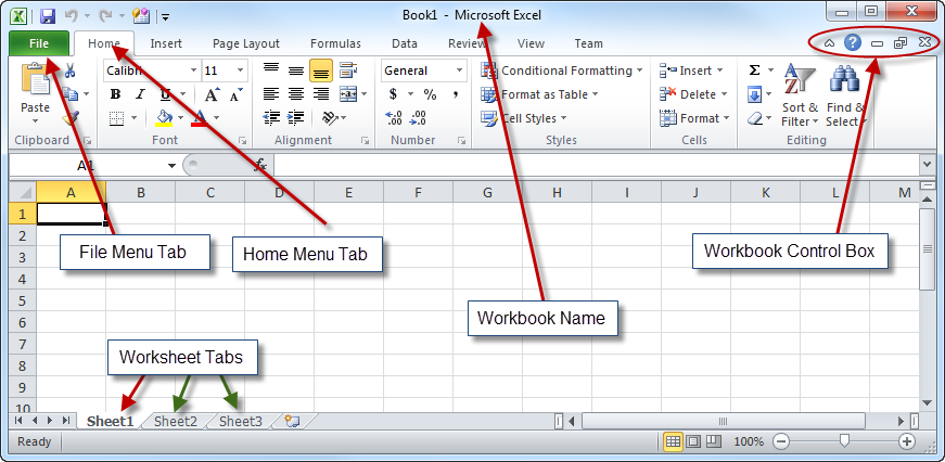Microsoft Excel Basics An Introduction to the Excel Workbook for – Workbook Vs Worksheet