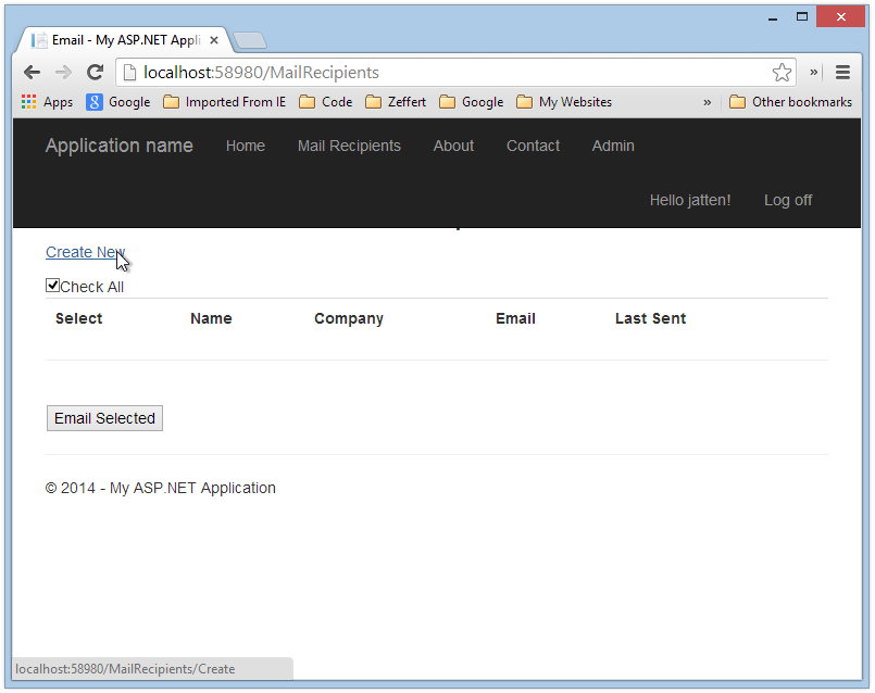 Send Email to Selected Recipients from your ASP NET MVC Web