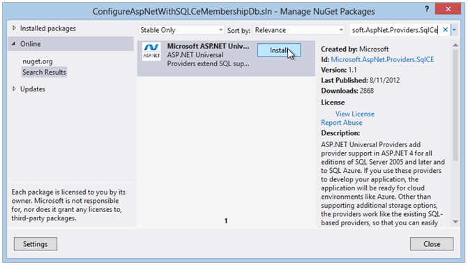 get-sqlCE-provider-with-nuget-package-manager