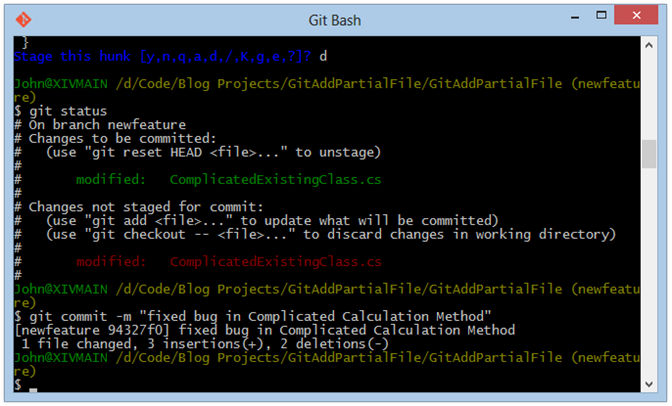 git-bash-commit-bug-fix