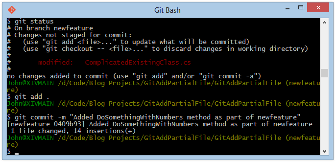 how to clear files in git add git