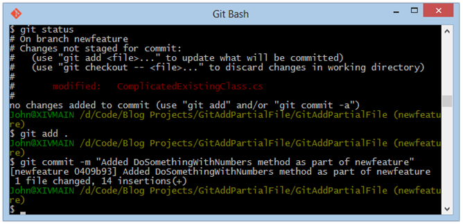 git-bash-commit-featture