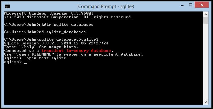 Installing and Using SQLite on Windows | John Atten