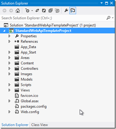 standard-web-api-template-solution-explorer