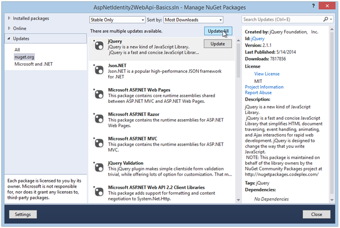 update-nuget-packages