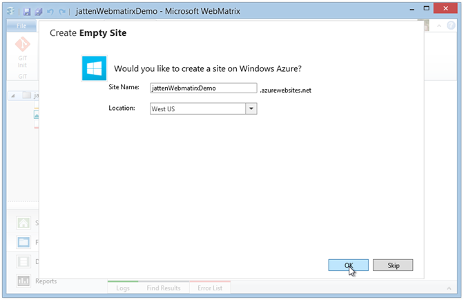 webmatrix-azure-add-site-dialog