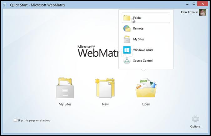 webmatrix-azure-open-local-site-folder