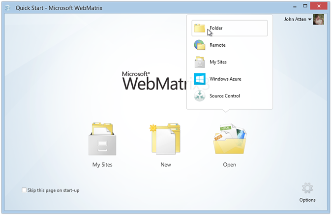 webmatrix-azure-open-local-site-folder