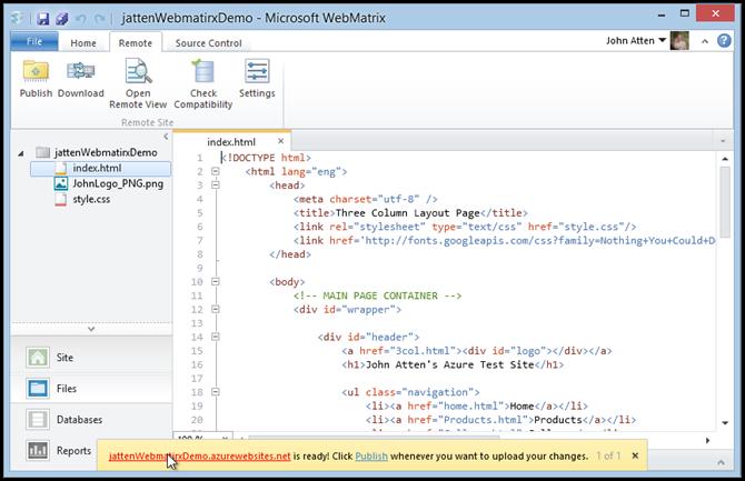 webmatrix-azure-site-created-dialog